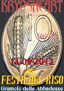 KRYOSHEART live @ Festa del Riso 2012