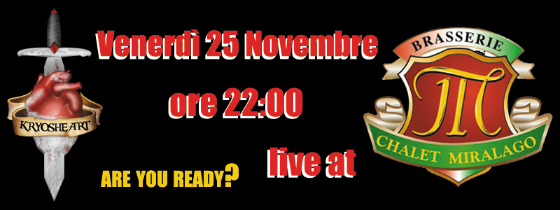 Kryosheart live @ Brasserie Chalet Miralago